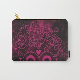 Lino printed sugar skull Carry-All Pouch