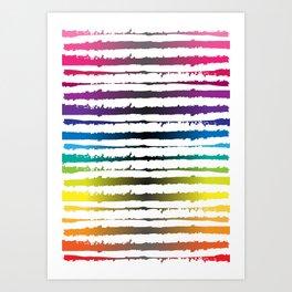 Hawaii Stripes Art Print
