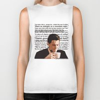 dale cooper Biker Tanks featuring Agent Cooper - coffee quotes  by Alessandro Paradossi