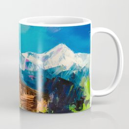 Sunny Day Over Teton Barn Coffee Mug