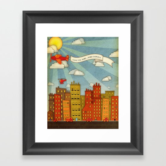 Town Framed Art Print