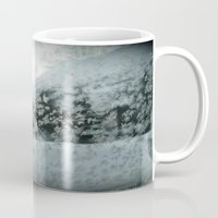 jack frost Mugs featuring With Love from Jack Frost by watchingthesky