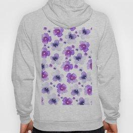 Modern purple lavender watercolor floral pattern Hoody