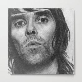 Ian Brown Pencil Drawing Metal Print