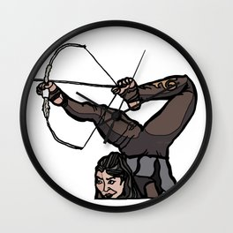 Central Asian Archer (transparent) Wall Clock