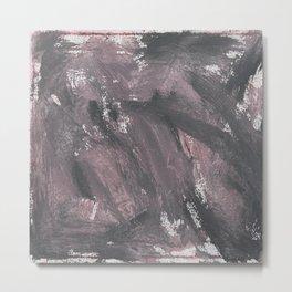 Red Chalk and Black Ink Metal Print