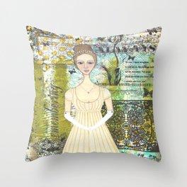 Elizabeth Bennet Throw Pillow