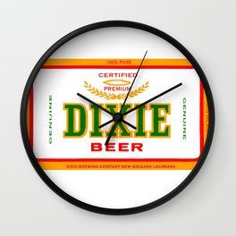 DIXIE BEER OF NEW ORLEANS Wall Clock