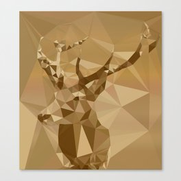 Digital Trophies II - Abstract Art Low Poly Animals Deer Canvas Print