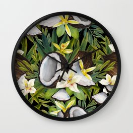 Watercolor vanilla & coconut Wall Clock