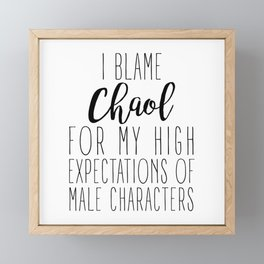 High Expectations - Chaol Framed Mini Art Print