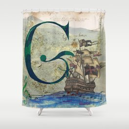 Letter G is for so many things Shower Curtain