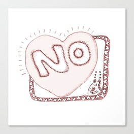 Learn to say NO Canvas Print