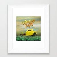 grafitti Framed Art Prints featuring American Grafitti by Tony Vazquez