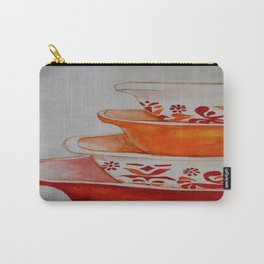Friendship and Americana Vintage Orange Pyrex Carry-All Pouch