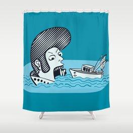 Elvis Eats Boats Shower Curtain