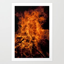 Burning Fire Art Print