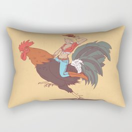 Girl Riding a Cock Rectangular Pillow