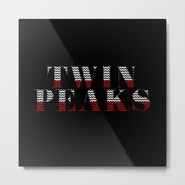 TWIN PEAKS Typo VS Chevron Metal Print