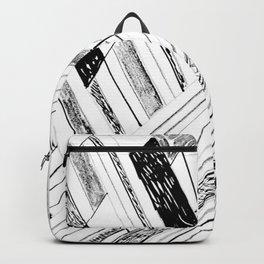 Retro Art Doodle Print Backpack