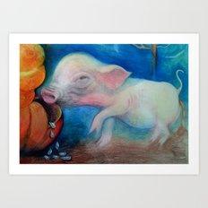 One Pig  Art Print