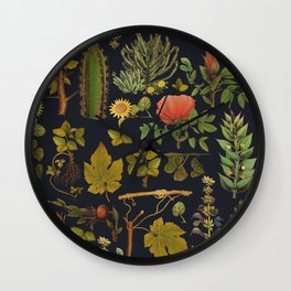 natural plants together Wall Clock