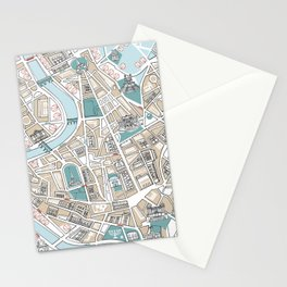 Map of Rome Stationery Cards