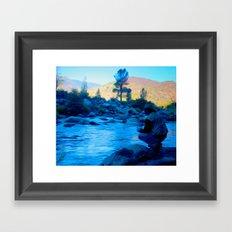 River blues Framed Art Print