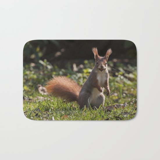Do you have a nut - Cute squirrel animal on #Society6 Bath Mat