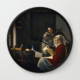 "Johannes Vermeer ""Girl Interrupted at Her Music"" Wall Clock"