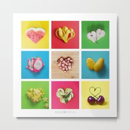 For the Love of Fruit Metal Print