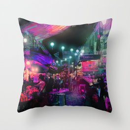 Tunes of the Night Throw Pillow