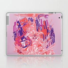 Smash! Zap!! Zooom!! - Big-Boobed Babe Laptop & iPad Skin
