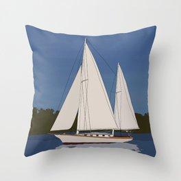 Ondene, Nereia Herreshoff, Sailboat Throw Pillow
