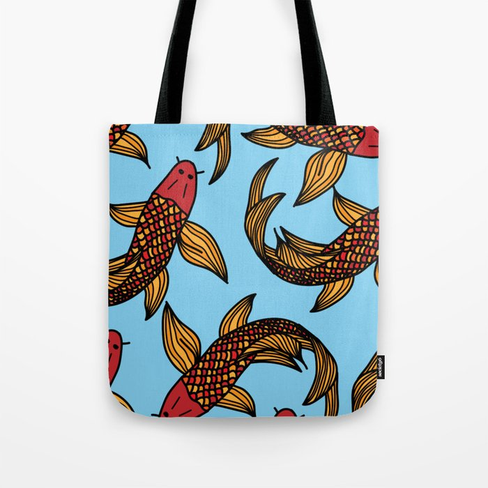 Koy Fish Tote Bag