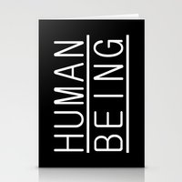 human Stationery Cards featuring Human by PsychoBudgie