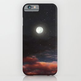 Dawn's moon iPhone Case