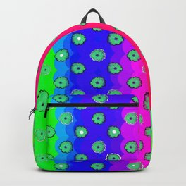 Rainbow and green flowers Backpack