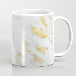 Luxury white marble gold accent Coffee Mug