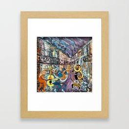 French Quarter Street Musicians Framed Art Print
