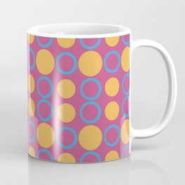 Colorful Geometric Polka Print Coffee Mug