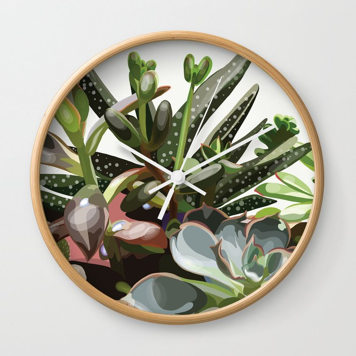 Tiny Garden Wall Clock