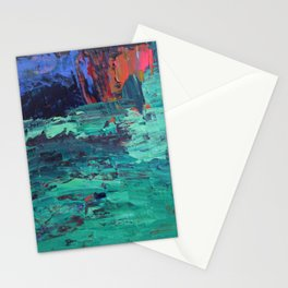 Overgrowth, Modern Fine Art Abstract Painting Stationery Cards