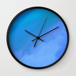 Fifty Shades of Blue Wall Clock