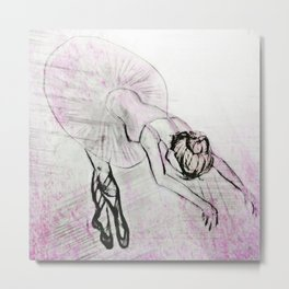 Graceful Girl Metal Print
