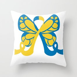 Butterfly Down Syndrome Throw Pillow