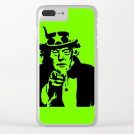 Neon Green Uncle Trump Needs You Clear iPhone Case
