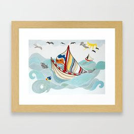 Sail Me Away Framed Art Print