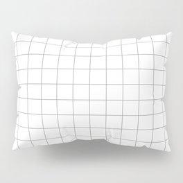 grey white grid Pillow Sham