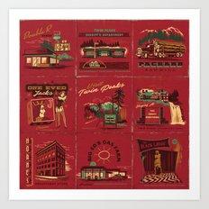 TWIN PEAKS MATCHBOOK SERIES Art Print